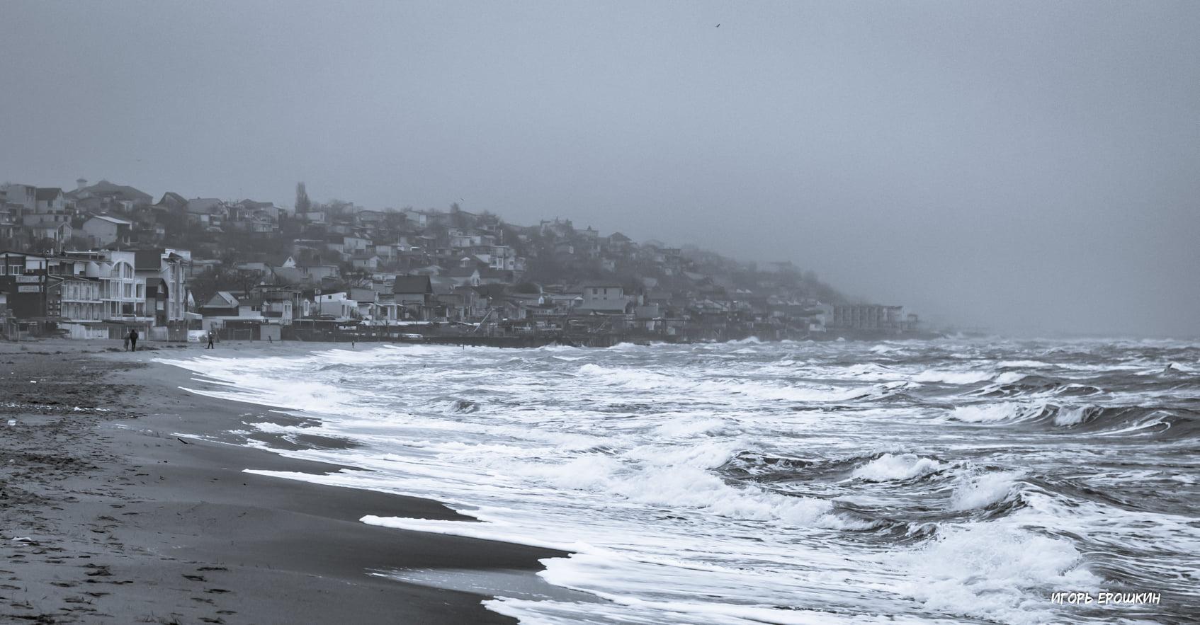 Зимнее море в Одессе. Фото: Игорь Ерошкин