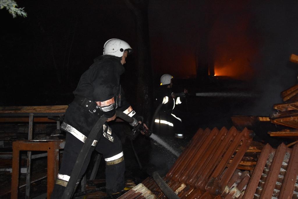 Пожар в Аркадии. Фото: ГСЧС