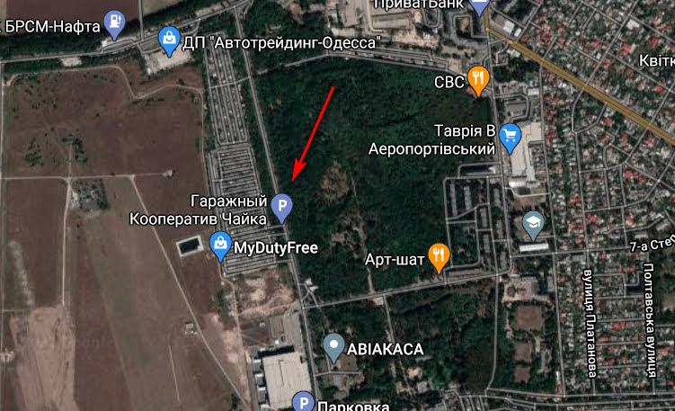 Район аэропорта. Карта: Google