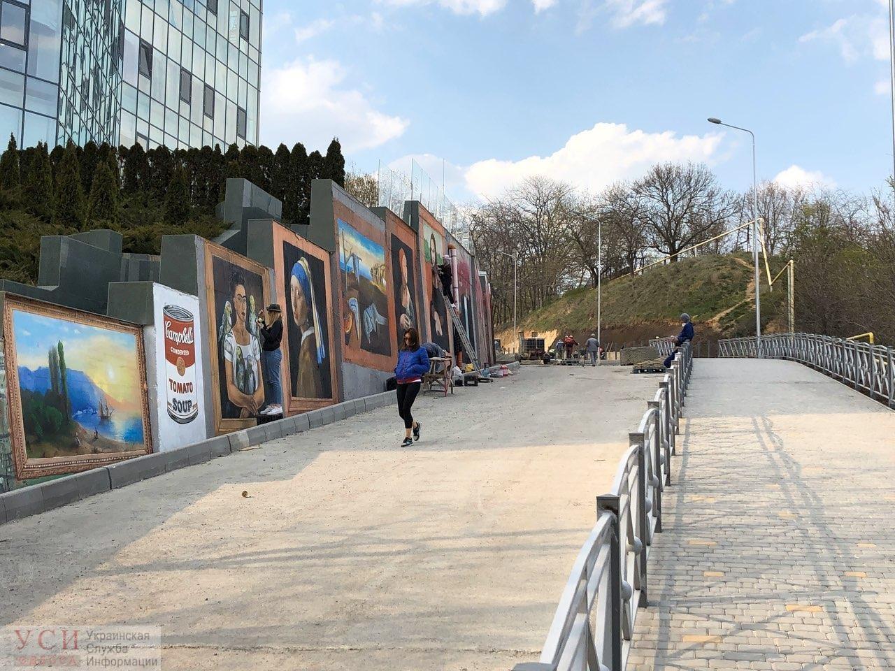 На спуске к Трассе Здоровья нарисовали известные картины - Одесса ...