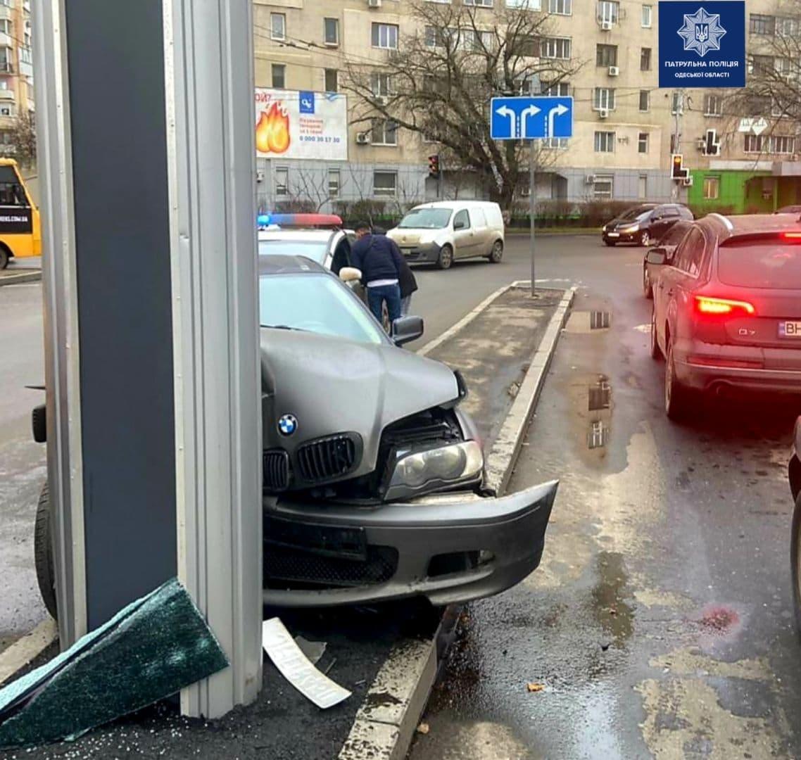 ДТП на Святослава Рихтера. Фото: Патрульная полиция