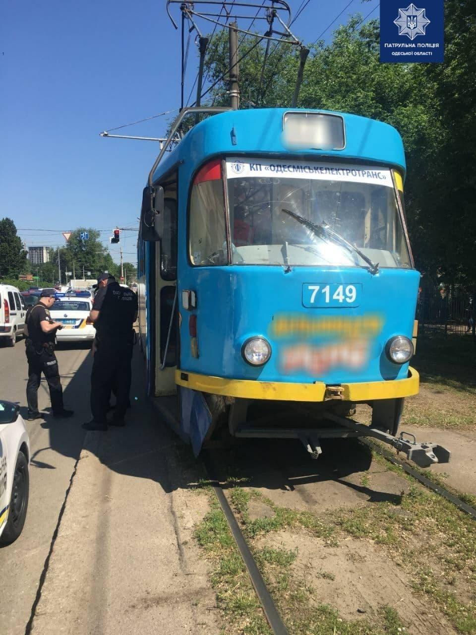 ДТП с трамваем. Фото Патрульной полиции