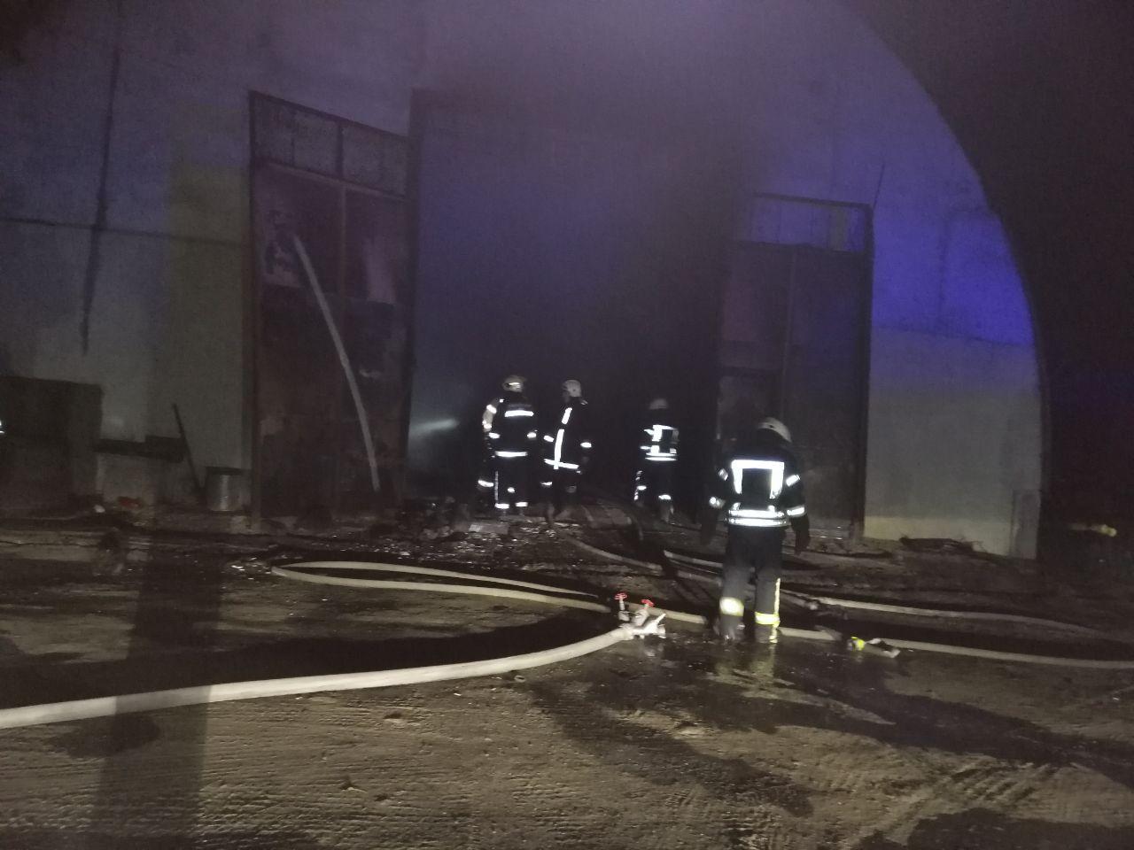 Жаркая ночь: под Одессой сгорели база отдыха и СТО. Фото: Служба чрезвычайных ситуаций