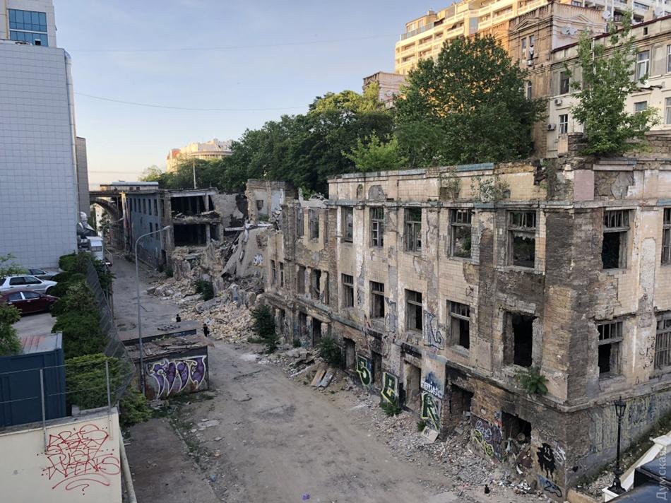 Как выглядело разрушенное здание в 2018 году