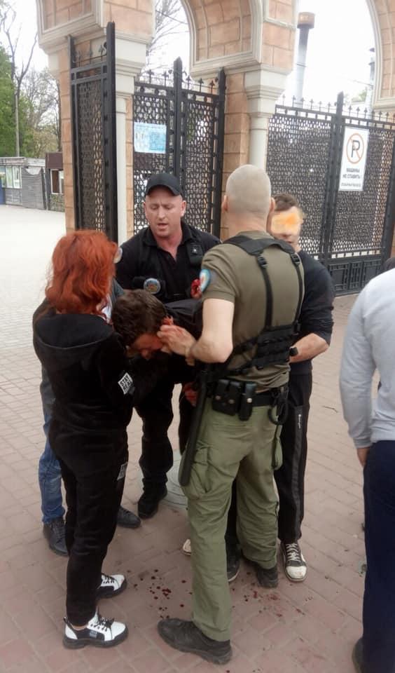 В Преображенском парке произошла массовая драка с поножовщиной. Фото: Департамент муниципальной безопасности Одесского городского совета