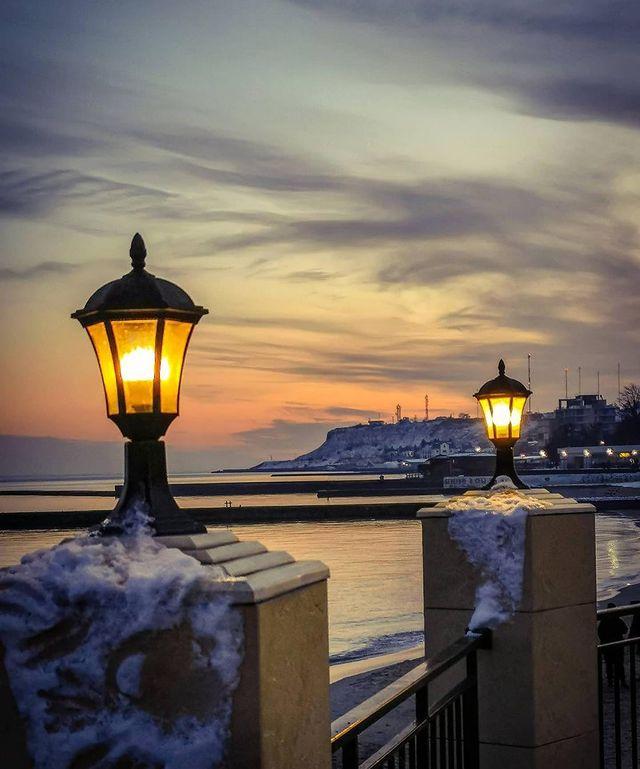Холодные закаты и рассветы: посмотри, как прекрасна Одесса. Фото: instagram.com/valerievna_ya_