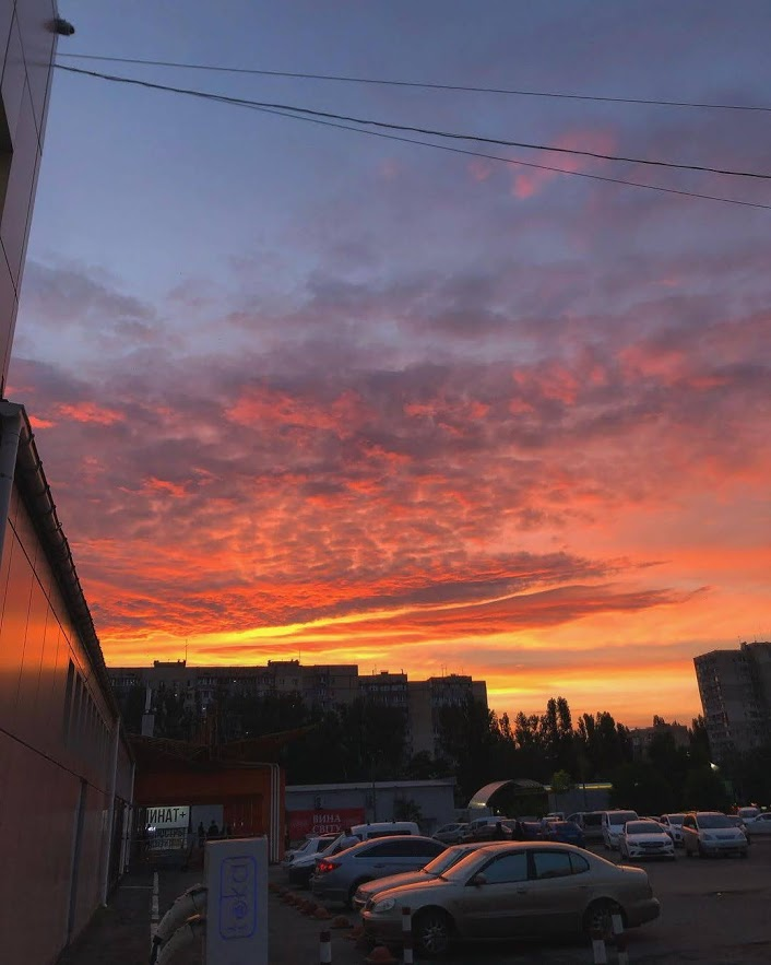 В Одессе 30 мая наблюдали яркий закат. Фото: instagram.com/anna_salatova
