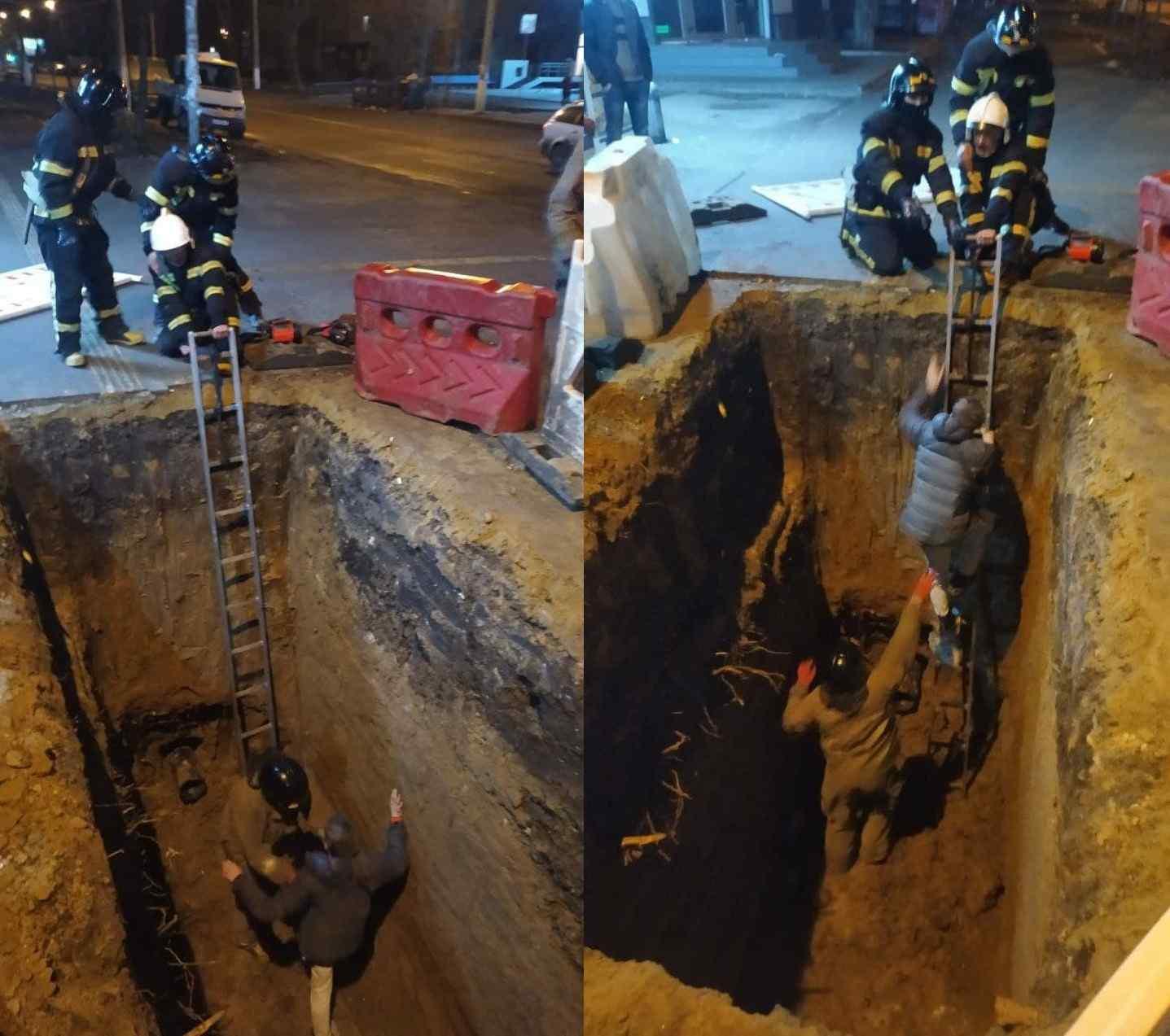 Не разглядел в темноте: молодой одессит провалился в четырехметровую яму. Фото: Служба чрезвычайных ситуаций