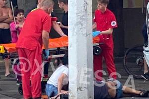 Пьяное ДТП: на Сегедской легковушка врезалась в микроавтобус и МАФ (обновлено) фото