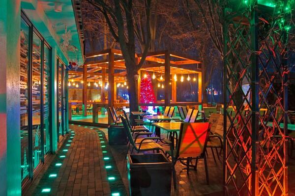 Полюбуйся ночными огнями: одесский парк украсили к Новому году фото 1