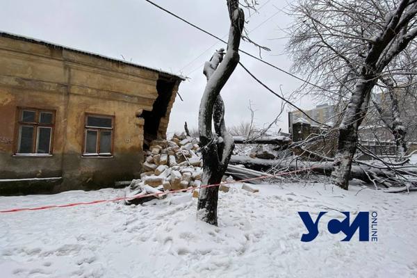 Последствия стихии: в Одессе упавшее дерево разрушило часть дома (обновлено) фото 4