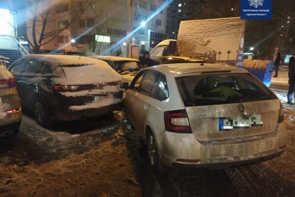 Шел на обгон: в Одессе пьяный водитель разбил семь авто фото 2