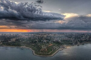 Облако в форме дракона и двойная радуга: чем одесситам запомнилась непогода фото